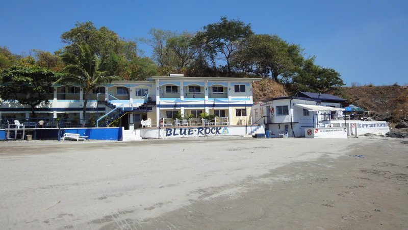 Another view of the beach in front of Blue Rock