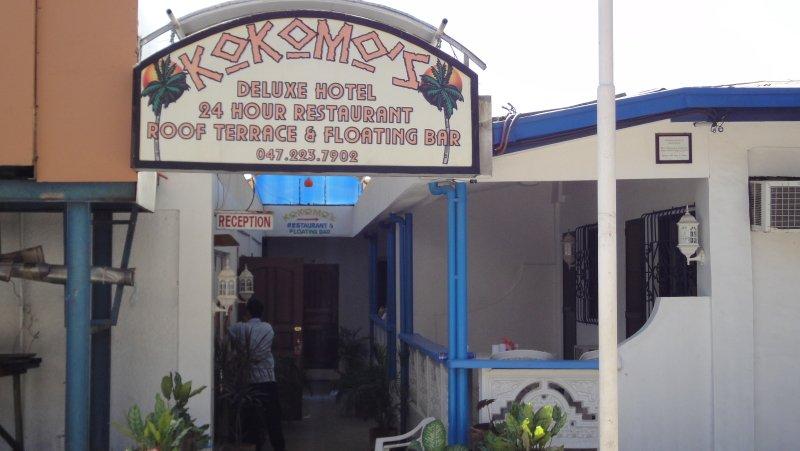 Kokomos Beach Resort Entrance on Baloy Beach Road