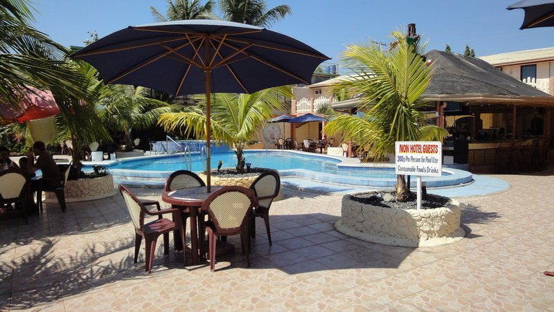 Another view of the pool and bar at the Treasure Island Beach Resort