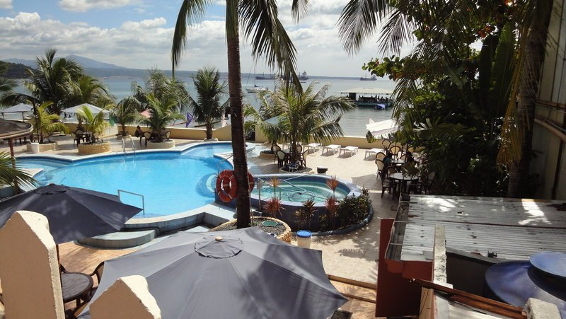 A better view of the pool at the Treasure Island Beach Resort